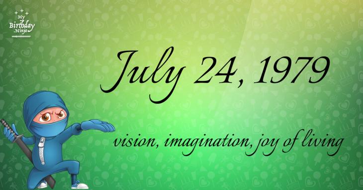 July 24, 1979 Birthday Ninja