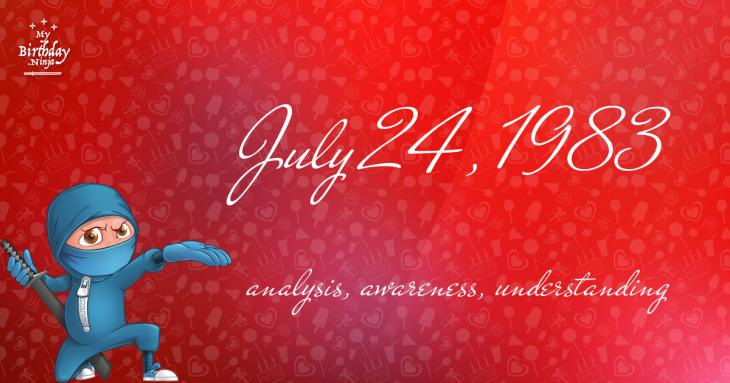 July 24, 1983 Birthday Ninja
