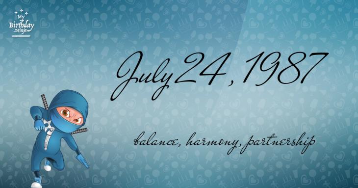 July 24, 1987 Birthday Ninja