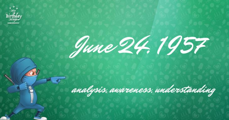 June 24, 1957 Birthday Ninja