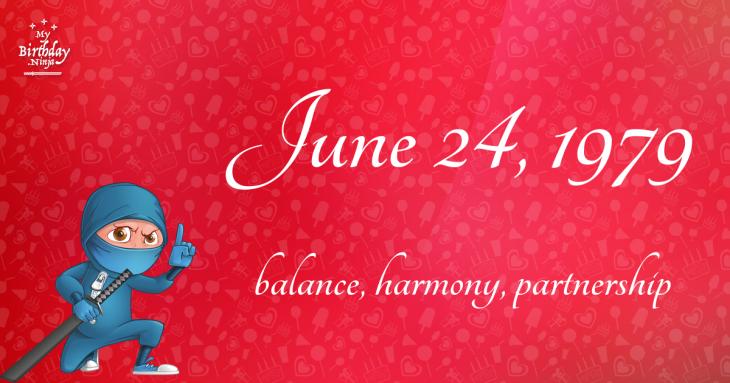 June 24, 1979 Birthday Ninja