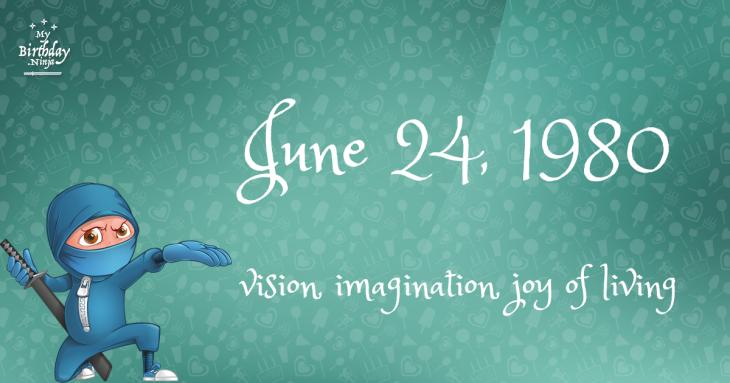 June 24, 1980 Birthday Ninja