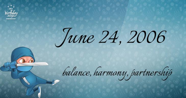 June 24, 2006 Birthday Ninja