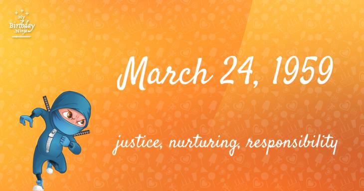 March 24, 1959 Birthday Ninja