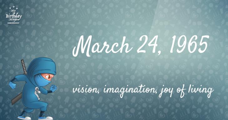 March 24, 1965 Birthday Ninja
