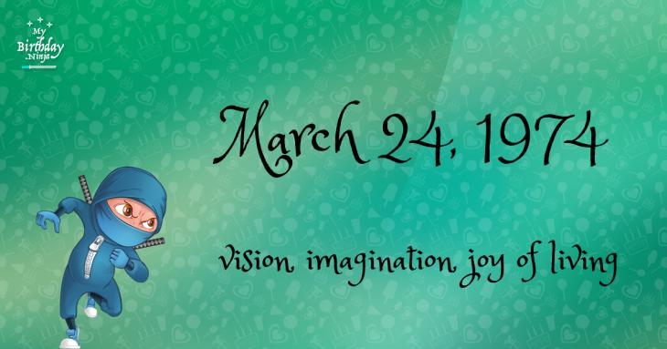 March 24, 1974 Birthday Ninja