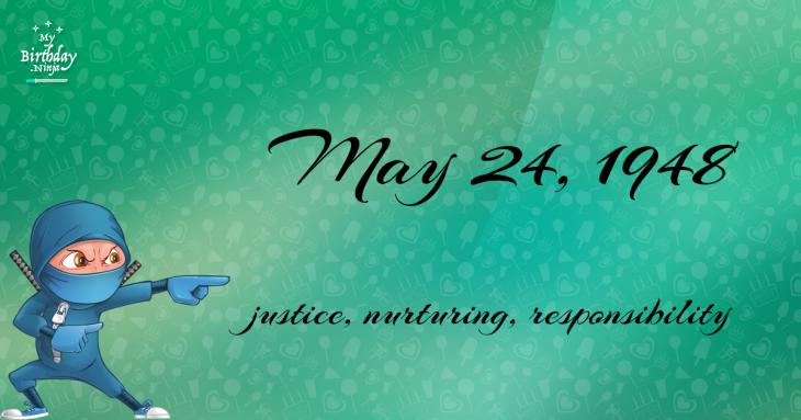 May 24, 1948 Birthday Ninja