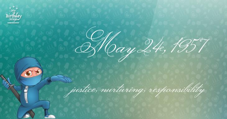 May 24, 1957 Birthday Ninja