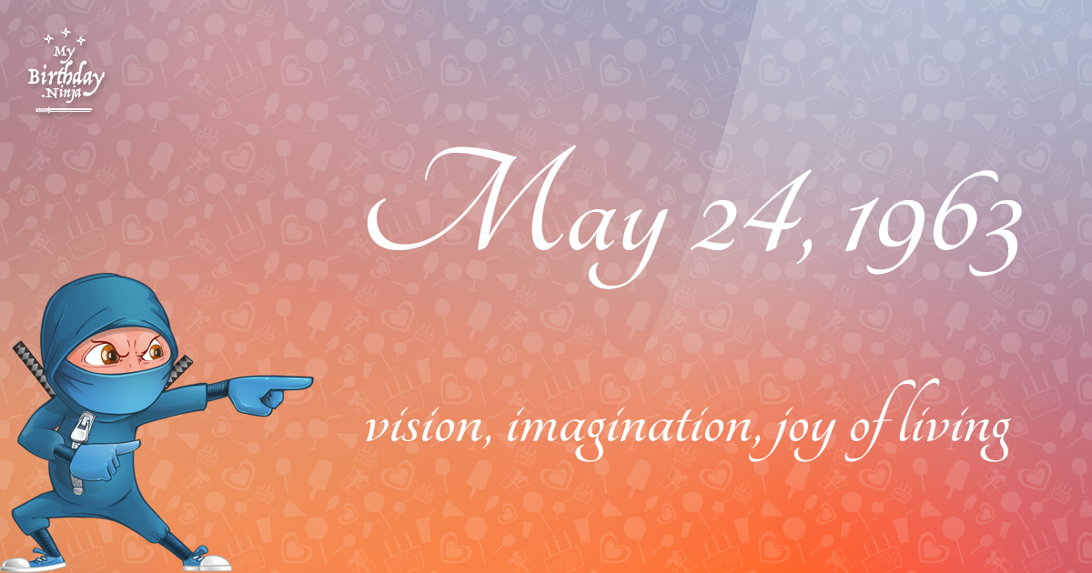 May 24, 1963 Birthday Ninja Poster