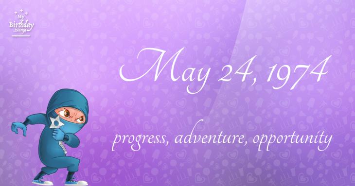 May 24, 1974 Birthday Ninja