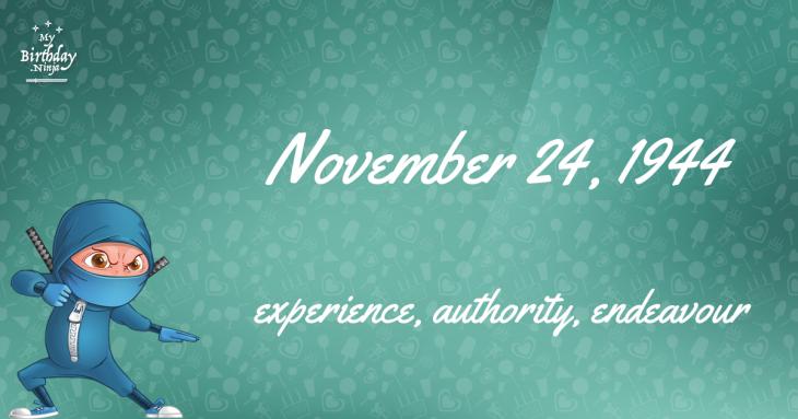 November 24, 1944 Birthday Ninja