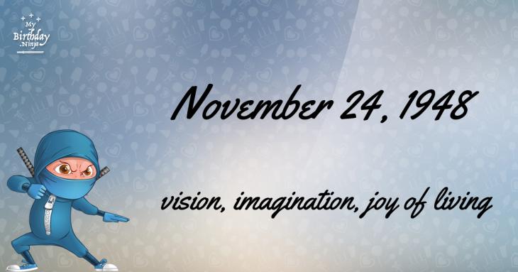 November 24, 1948 Birthday Ninja