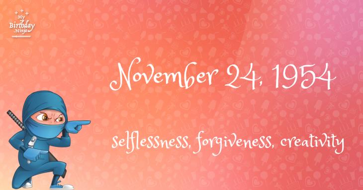 November 24, 1954 Birthday Ninja