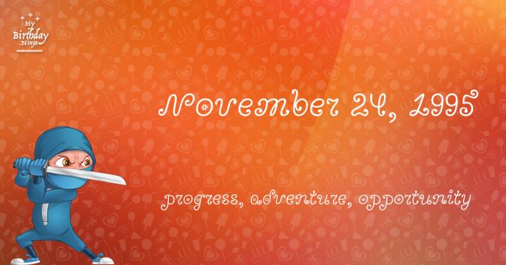 November 24, 1995 Birthday Ninja