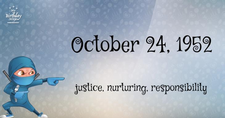 October 24, 1952 Birthday Ninja