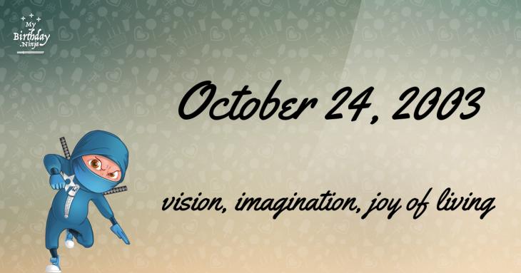 October 24, 2003 Birthday Ninja
