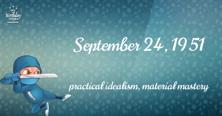September 24, 1951 Birthday Ninja