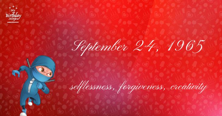 September 24, 1965 Birthday Ninja