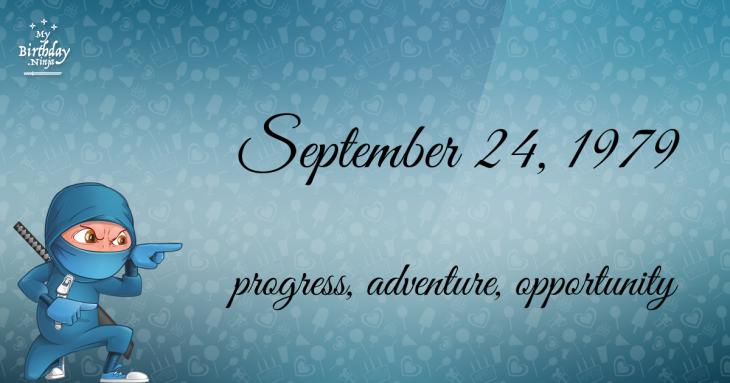 September 24, 1979 Birthday Ninja