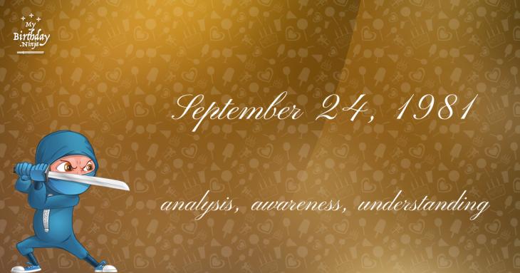 September 24, 1981 Birthday Ninja