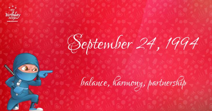 September 24, 1994 Birthday Ninja