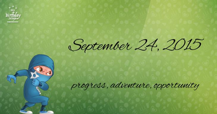 September 24, 2015 Birthday Ninja
