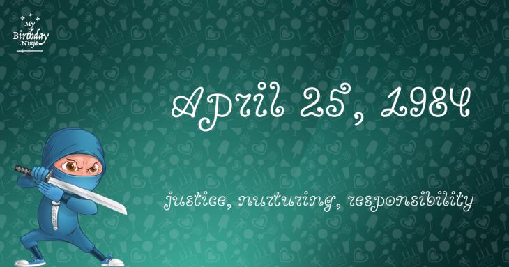 April 25, 1984 Birthday Ninja