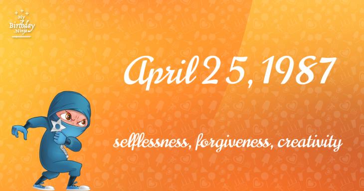 April 25, 1987 Birthday Ninja