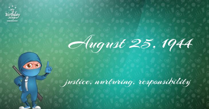 August 25, 1944 Birthday Ninja