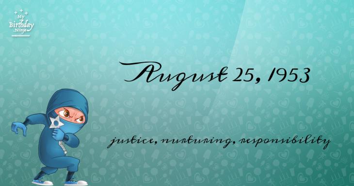 August 25, 1953 Birthday Ninja