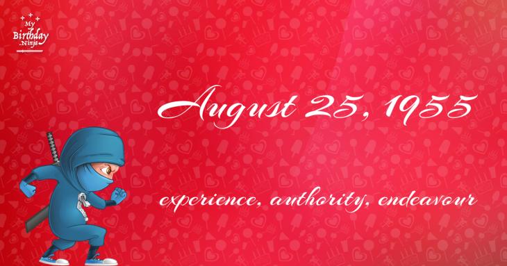 August 25, 1955 Birthday Ninja