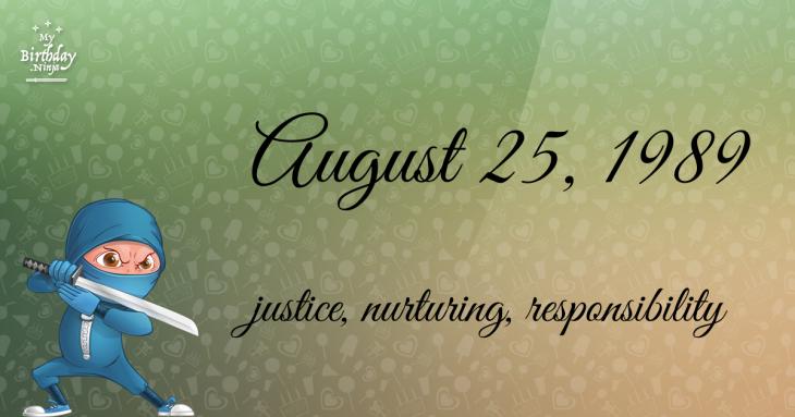 August 25, 1989 Birthday Ninja
