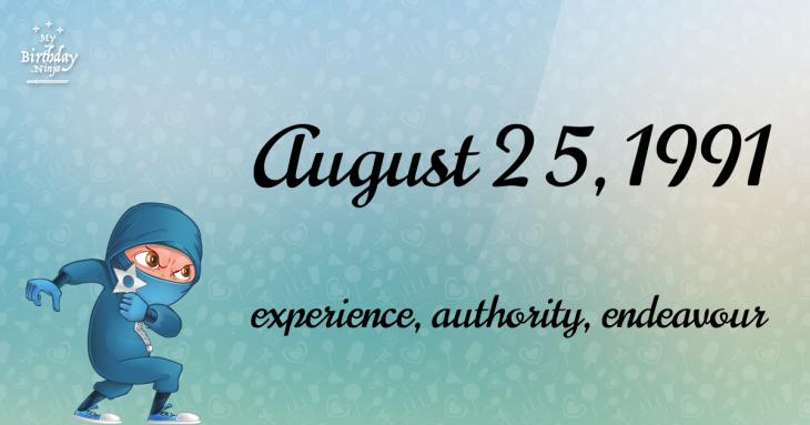 August 25, 1991 Birthday Ninja