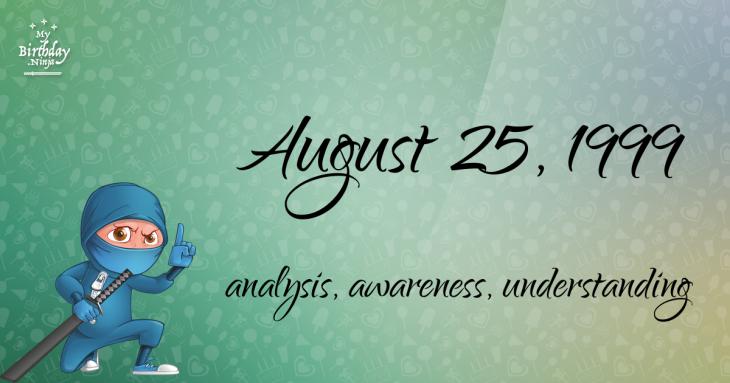 August 25, 1999 Birthday Ninja