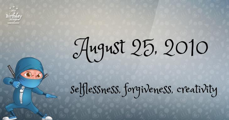 August 25, 2010 Birthday Ninja