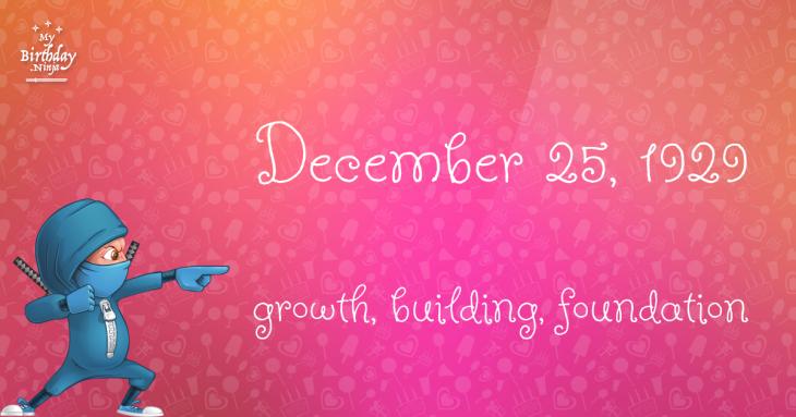 December 25, 1929 Birthday Ninja