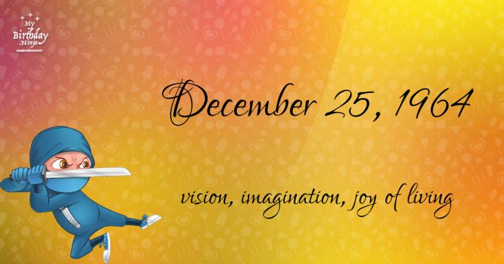 December 25, 1964 Birthday Ninja