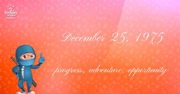 December 25, 1975 Birthday Ninja