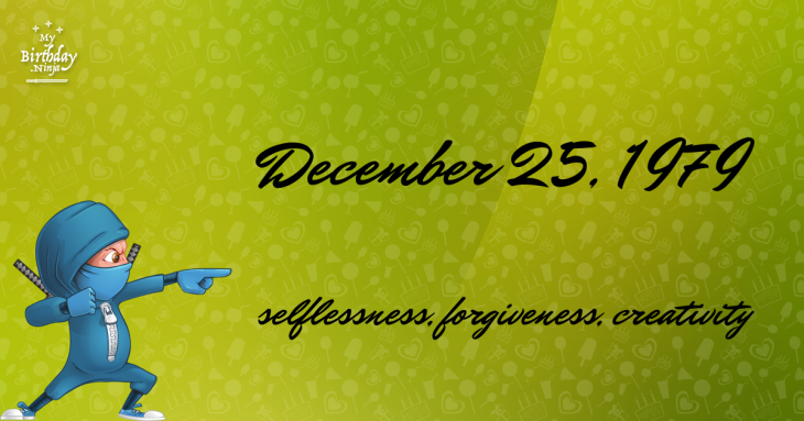 December 25, 1979 Birthday Ninja