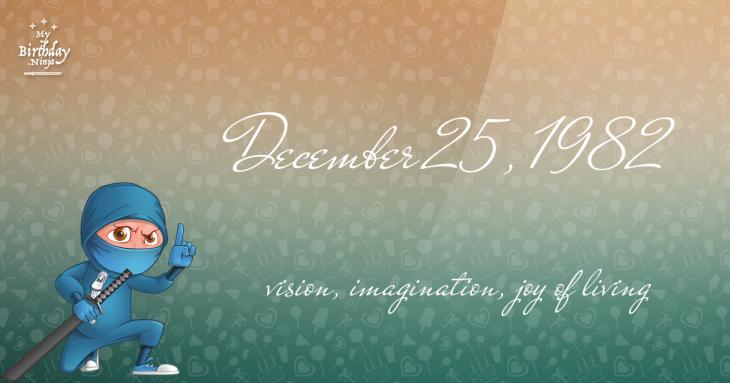 December 25, 1982 Birthday Ninja
