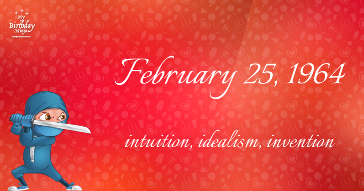 February 25, 1964 Birthday Ninja