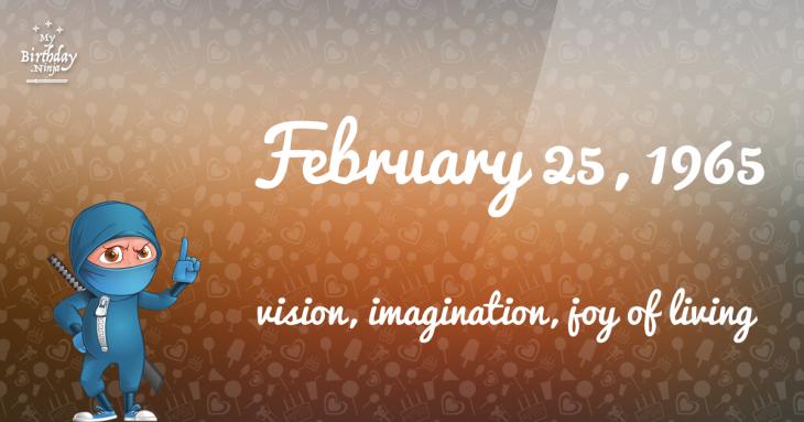 February 25, 1965 Birthday Ninja