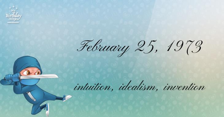 February 25, 1973 Birthday Ninja