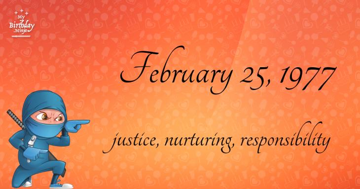 February 25, 1977 Birthday Ninja