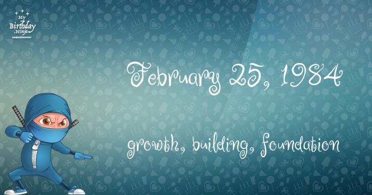 February 25, 1984 Birthday Ninja