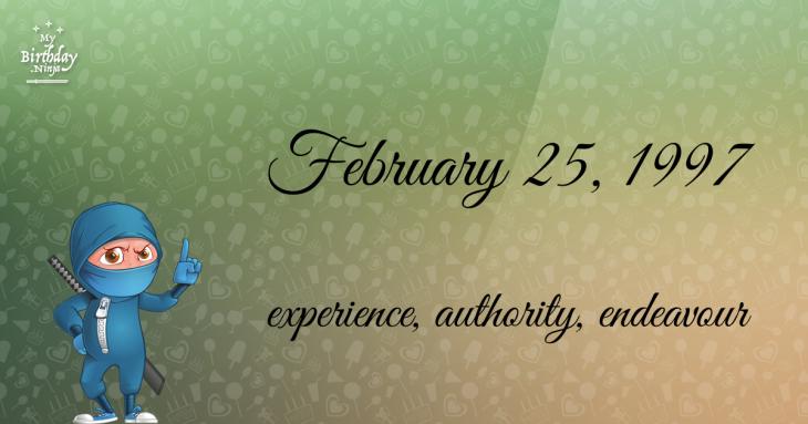 February 25, 1997 Birthday Ninja
