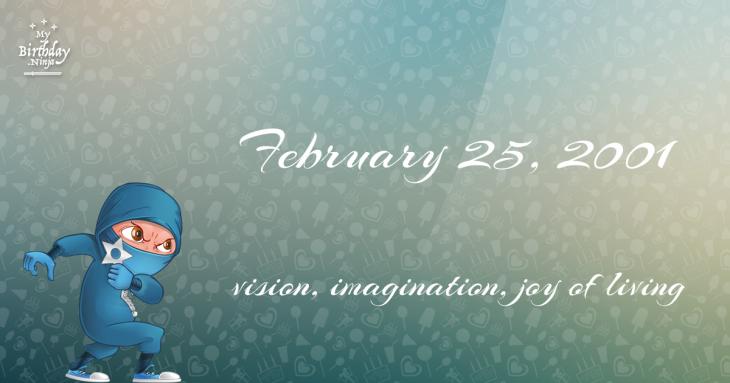 February 25, 2001 Birthday Ninja