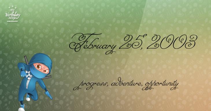 February 25, 2003 Birthday Ninja