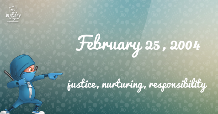 February 25, 2004 Birthday Ninja