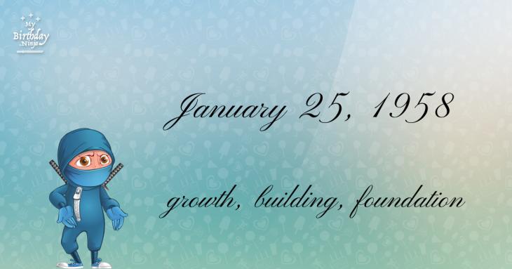 January 25, 1958 Birthday Ninja